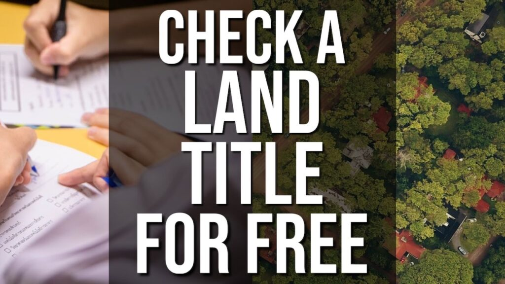 How To Check A Land Title For Free